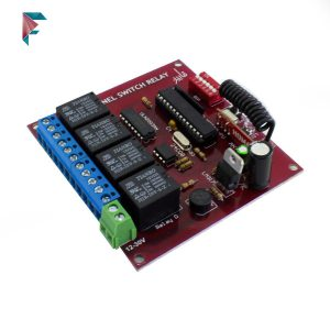گیرنده رادیویی |  4 کانال | لرن | گیرنده ریموت | فرکانس 433Mhz | خرید اینترنتی