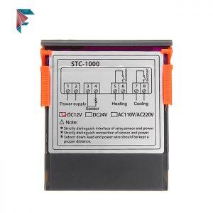 کنترلر دما پنلی تابلویی | دو رله |صنعتی | 12 ولت | STC1000