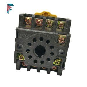 سوکت رله تابلویی | پین گرد | 11 پایه | 10 آمپر | PF110A