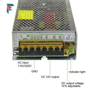 آداپتور 12 ولت 15 آمپر صنعتی | فلزی | پاور سوییچینگ